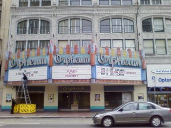 Orpheum Theater in downtown LA
