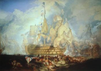 The Battle of Trafalgar, by JMW Turner