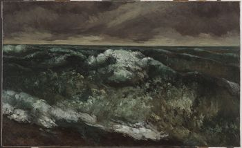 The Wave, Gustave Courbet, oil, 1869-70