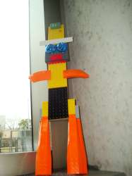 "A ""Lego Man"" created by a SXSW attendee"