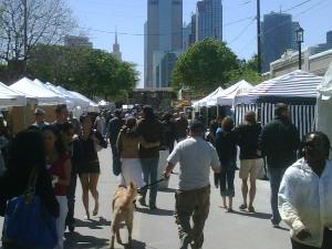 The Sunday crowd at the Deep Ellum Arts Festival.