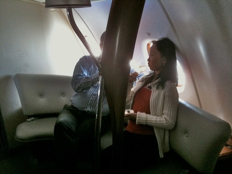 You've gotta love a plane with a couch.