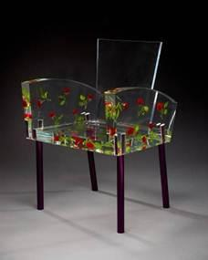 Miss Blanche armchair, designed 1988, executed 1989, Designer: Shiro Kuramata (Japanese, 1934–1991), acrylic, artificial roses, and aluminum with Alumite (anodized) finish, Dallas Museum of Art, gift of Caren Prothro, Vincent and Dara Prothro, and Nita and Cullum Clark, and Catherine, Alex, Charlie, Jack, and Will Rose, and Lela Rose and Grey, Rosey, and Brandon Jones in honor of Deedie Rose, DMA/amfAR Benefit Auction Fund, and Discretionary Decorative Arts Fund
