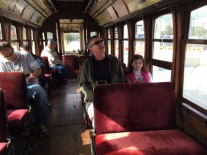 """""""Rosie"""" was the name of the trolley we chose to ride. (Photo: Wynn Powell)"""