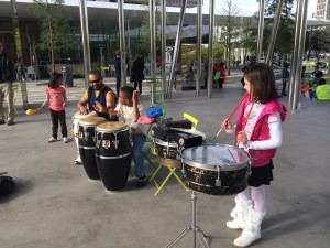 Join George Cortez for some drumming at Klyde Warren Park this weekend. (Photo: Wynn Powell)