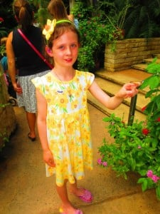 Make a butterfly friend at Texas Discovery Gardens (photo: Therese Powell)