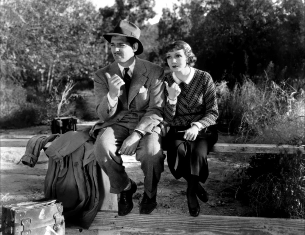 Clark Gable and Claudette Colbert each won Oscars for It Happened One Night.