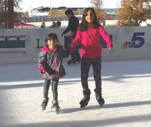 Grab someone you love and go skating at Panther Island Ice. (Photo: Trinity River Vision