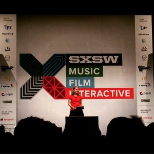 Paola Antonelli of MoMA, speaking at SXSW 2015. (user @sachiyop on Instagram)