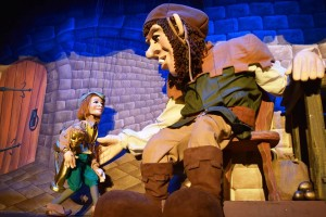 A jumbo-sized puppet brings 'Jack and the Beanstalk' to life. Photo: Geppetto's Theater & Workshop