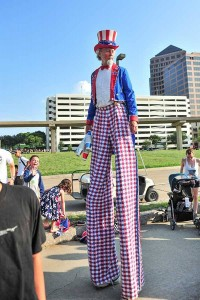C'mon out and say 'howdy' to Uncle Sam at Irving's Independence Day Celebration. Photo: City of Irving