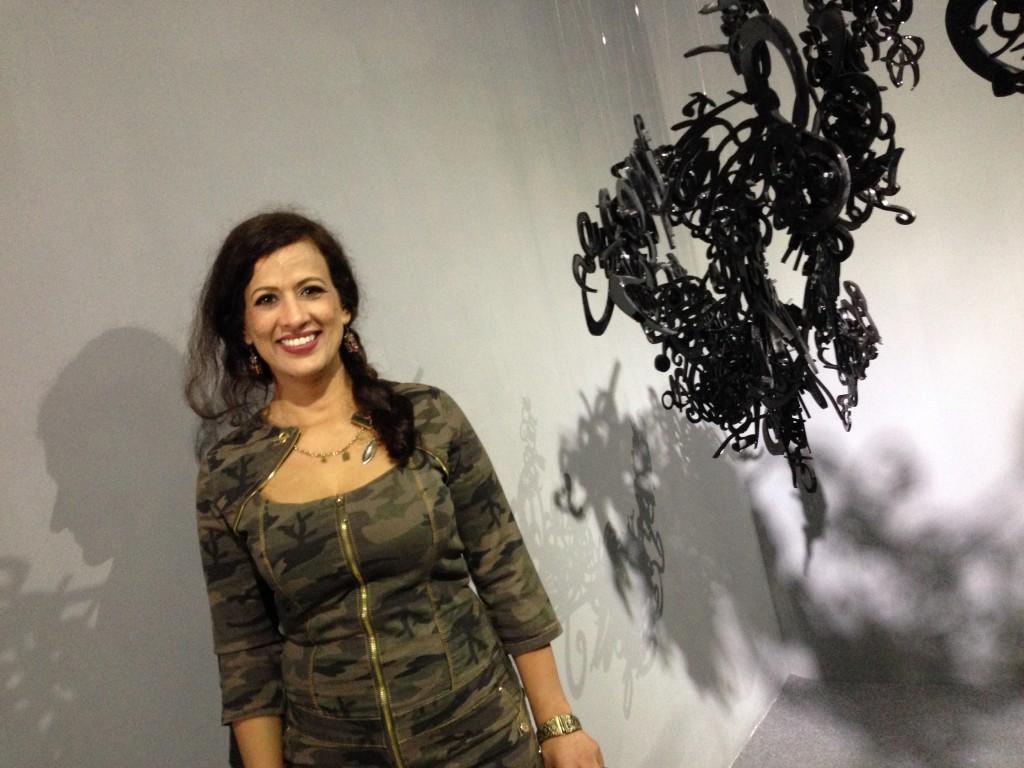 Simeen Farhat at the Venice Biennale. Photo: Joan Davidow.