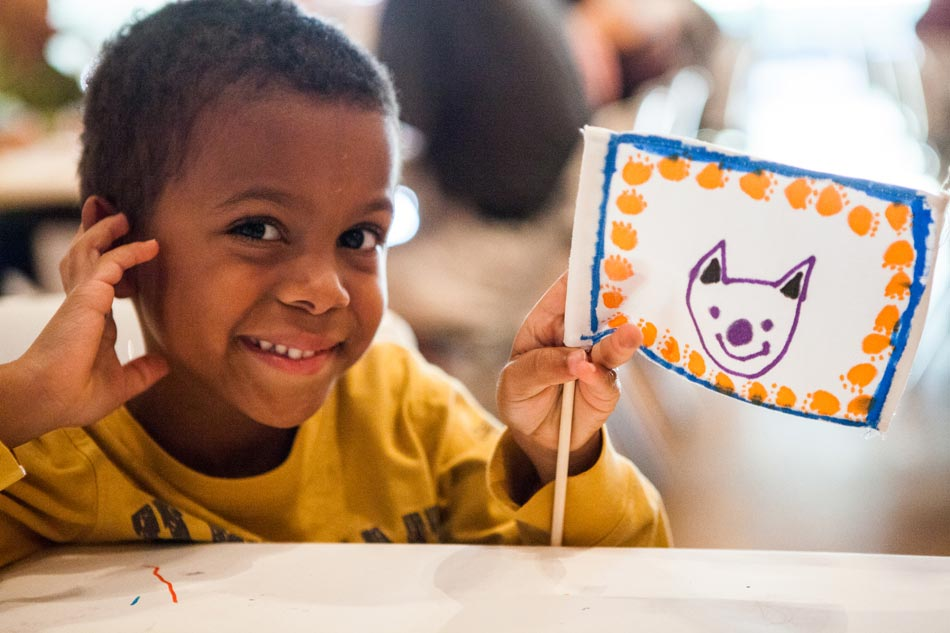 Have 'together-time' with the wee ones at Target First Saturday at the Nasher. Photo: Nasher Sculpture Center