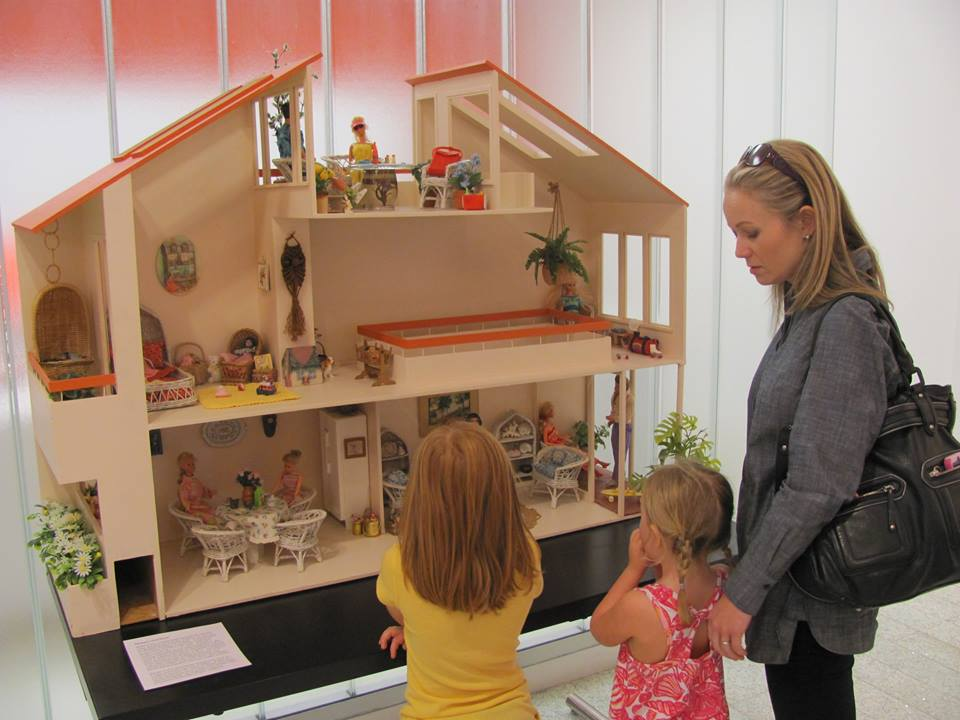 Wow! That's some dream house you've got there, Barbie! Check out other toys from your childhood at the Building Toys and Toy Buildings exhibition. Photo: Dallas Center for Architecture