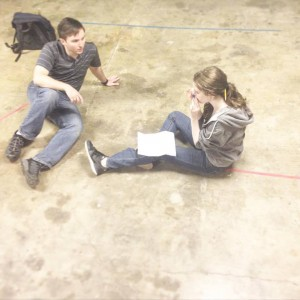 Zoe Kerr and Michael McMillan rehearse for Eyes Wide Shut. (Photo: Goat Song Collective.)