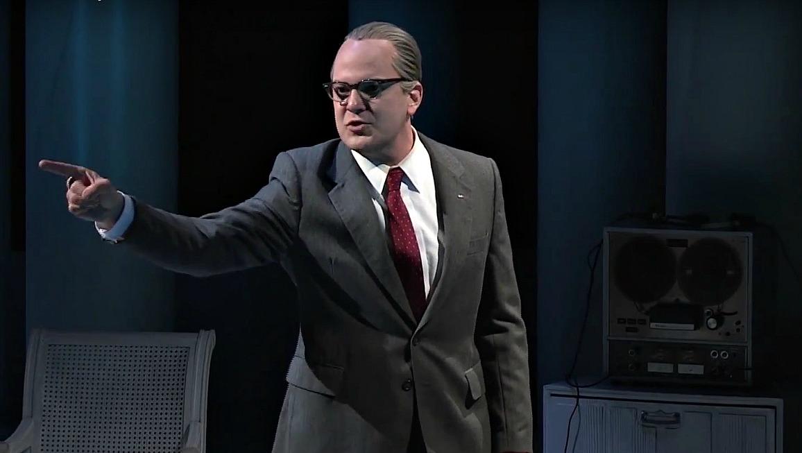 Brandon Potter as Lyndon Johnson in the Dallas Theater Center's 'All the Way.'