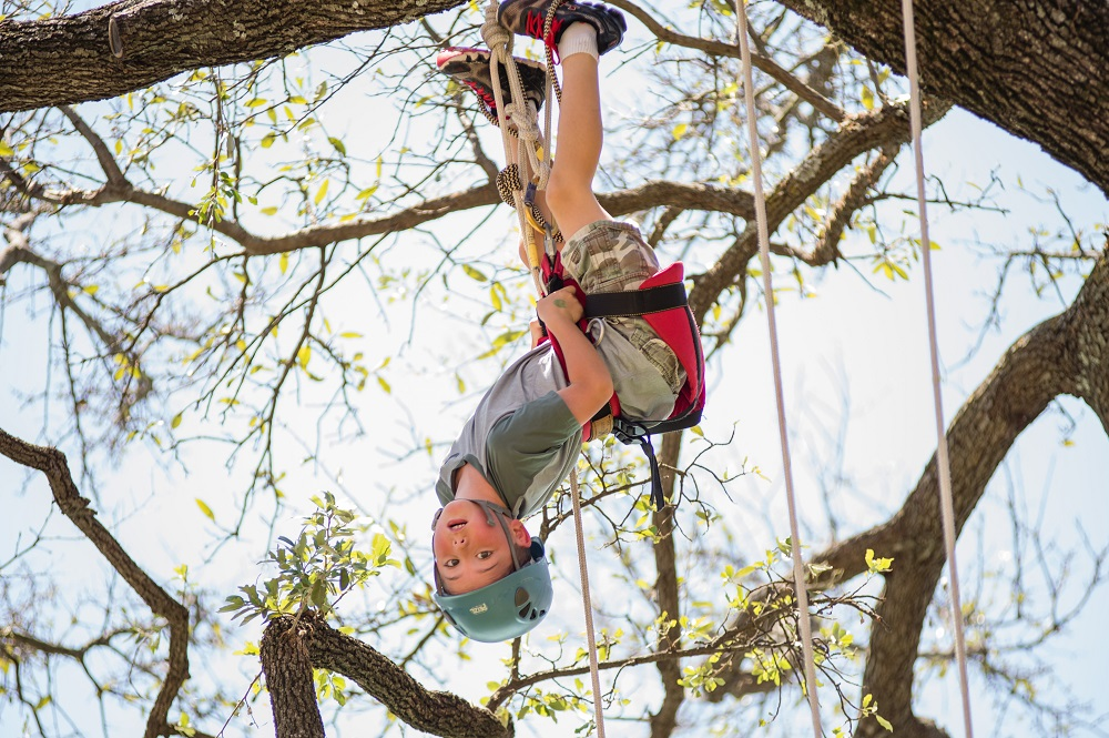 Swing from the trees at Fair Park with Tree Climbers International. Photo: Earth Day TX 2016