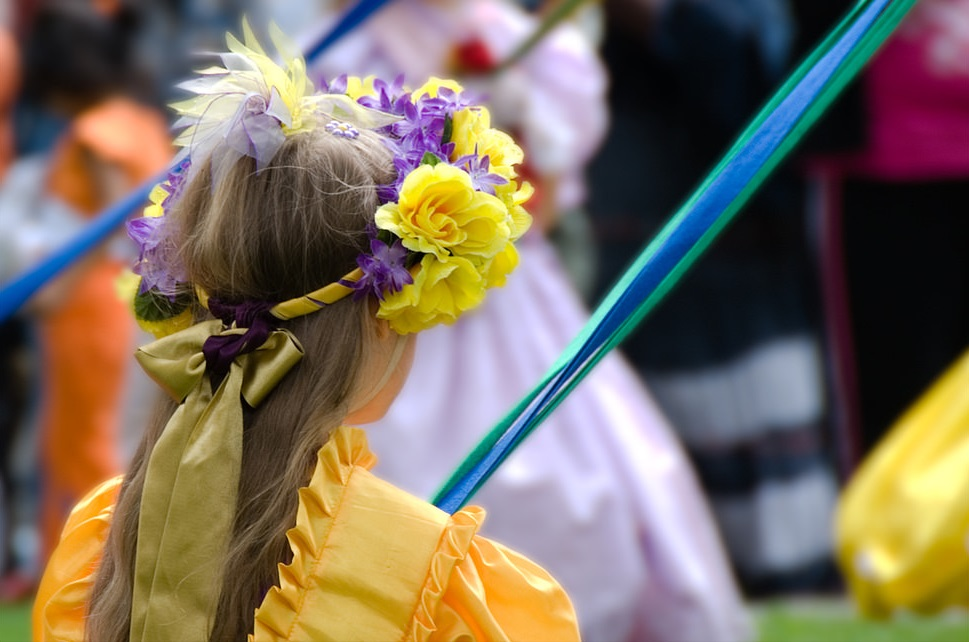 Learn all about the tradition of the maypole this weekend at NorthPark Center. Photo: Dan Wade