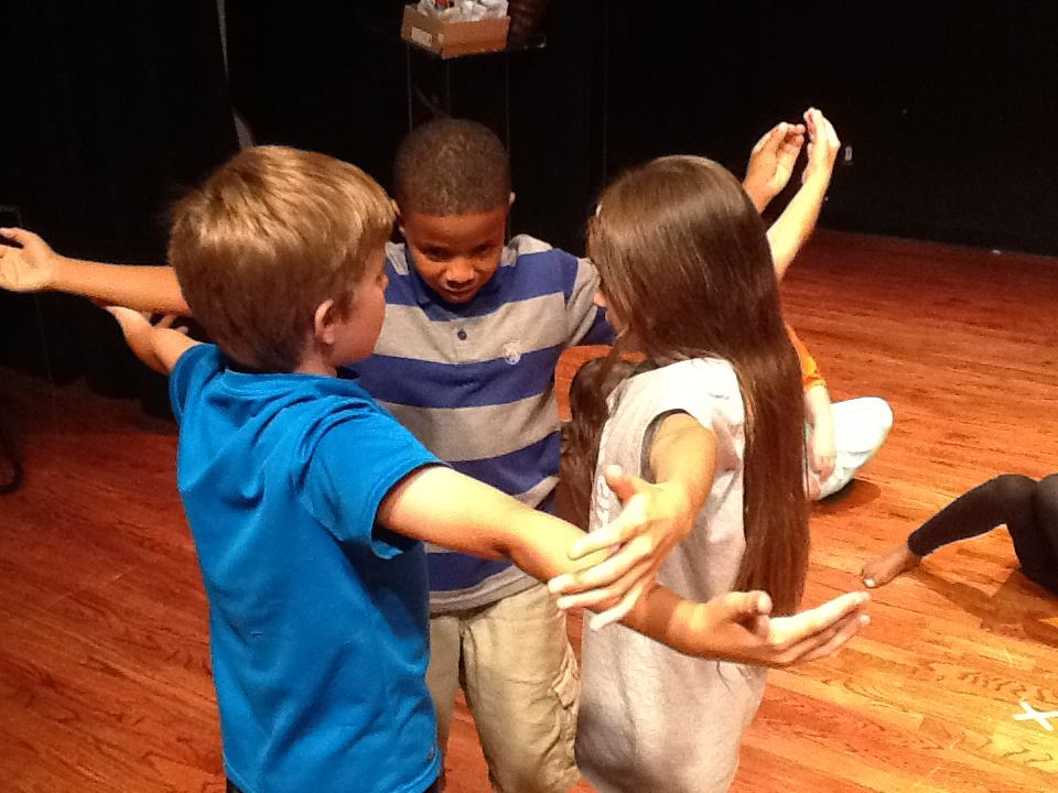 Campers working on their acting at TeCo's summer theater camp. Photo: Bishop Arts Theater Center