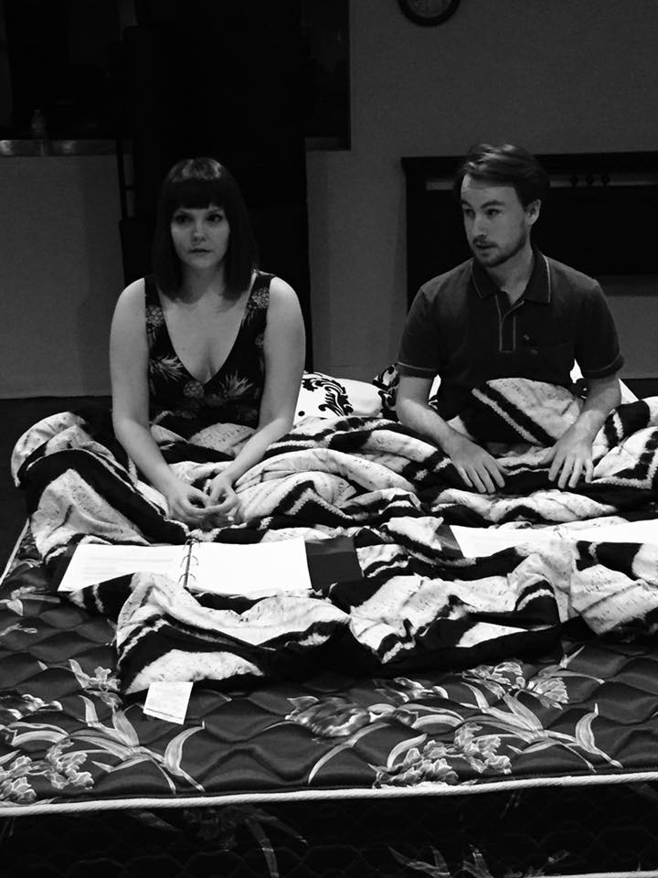 Olivia Grace Murphy and David Helms in Finding Myself in Bed.
