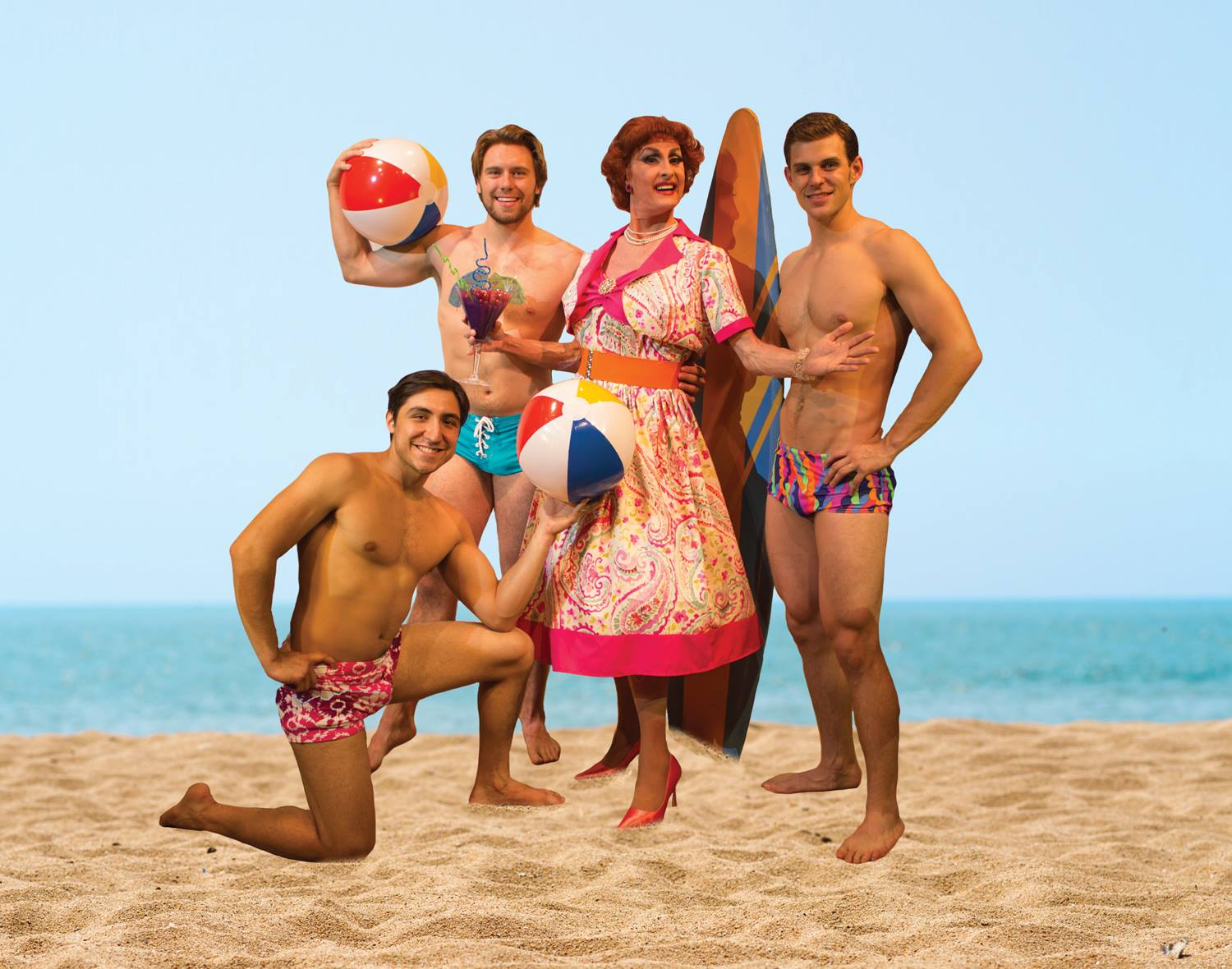 The cast of Psycho Beach Party