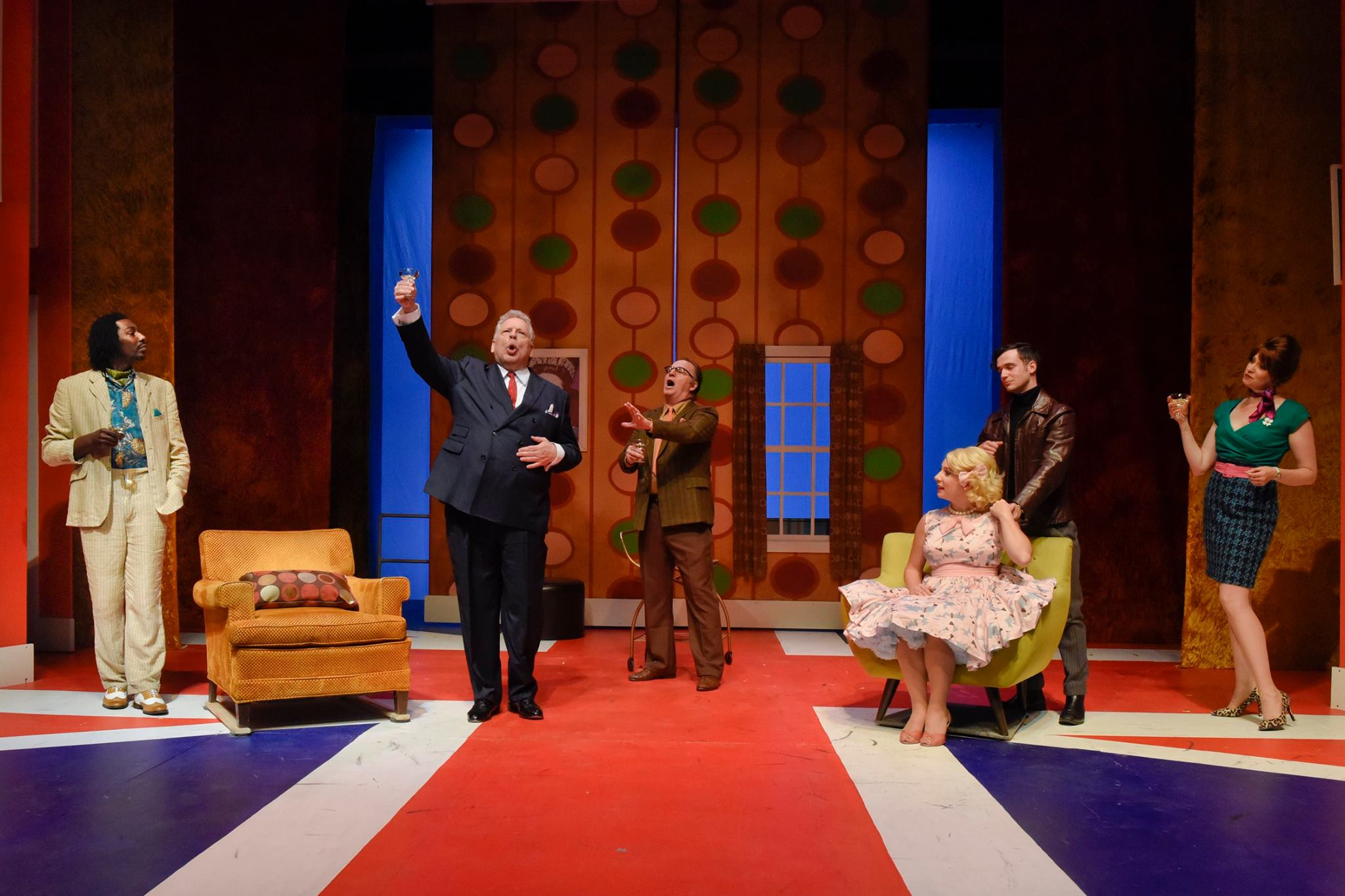 The cast of One Man, Two Guvnors