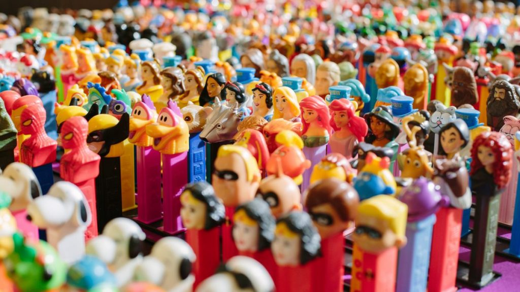 A army of PEZ dispensers is just one of the collections you can see at the Perot. Photo: Perot Museum of Nature and Science