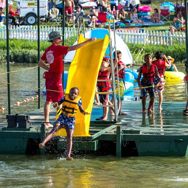 C'mon in! The water's fine at Sunday Funday! Photo: Panther Island Pavilion