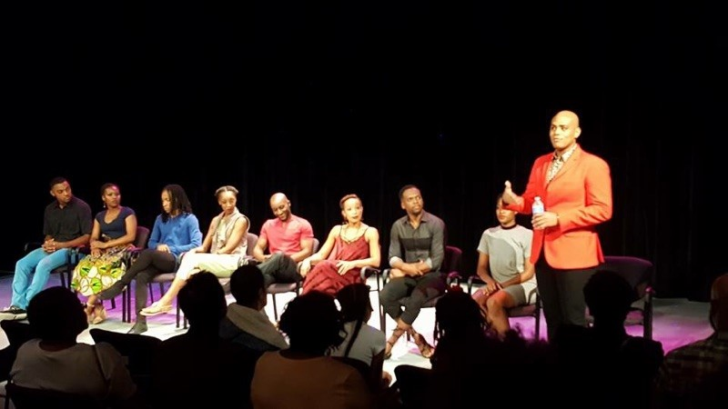 A photo from the talk back after the performance. Photo: Terrance M. Johnson Dance Project.