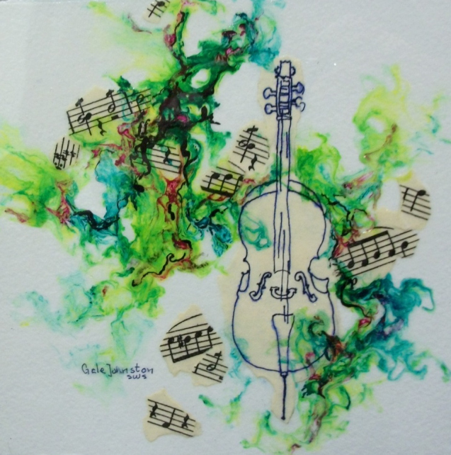 """Check out Gale Johnston's """"Musical Gel Painting"""" at Art on the Boulevard."""