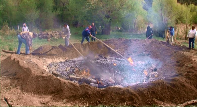 Mescalero Apaches prepare their agave oven just as their ancestors taught them
