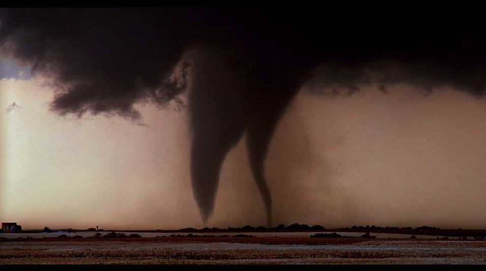 Tornadoes touching down.