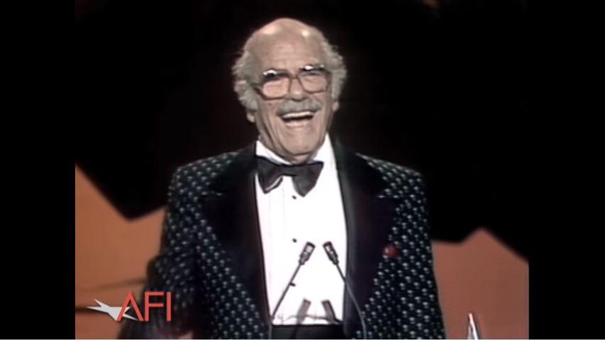 Capra receiving the AFI lifetime achievement award.