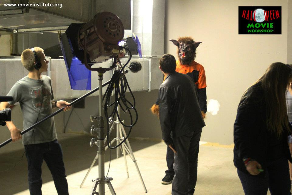 Help that werewolf get into character at the Halloween Movie Workshop. Photo: MediaTech Institute