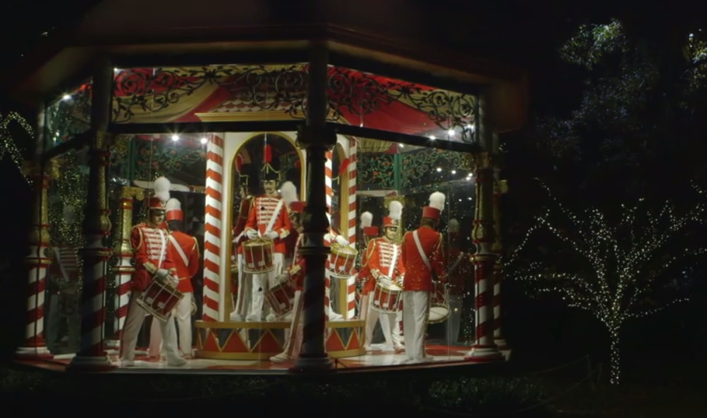 Count the drummers drumming at the 12 Days of Christmas display. Photo: Dallas Arboretum