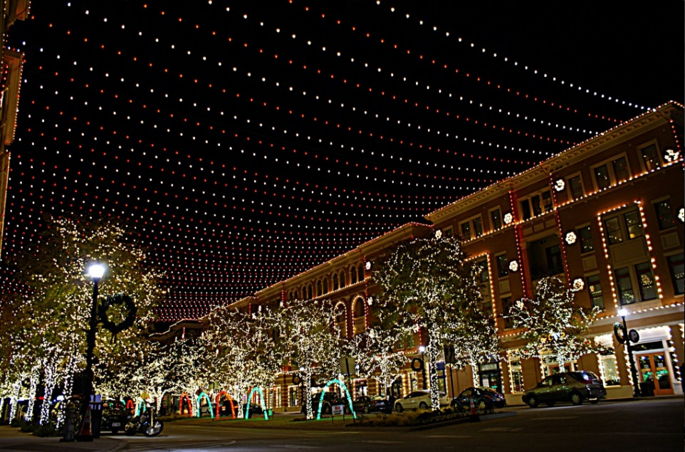 175, 000 lights will greet you at Christmas in the Square. Photo: Frisco Square