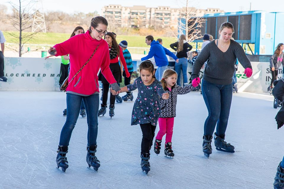 Embrace the winter weather with a little skating at Panther Island Ice. Photo: Trinity River Vision Authority