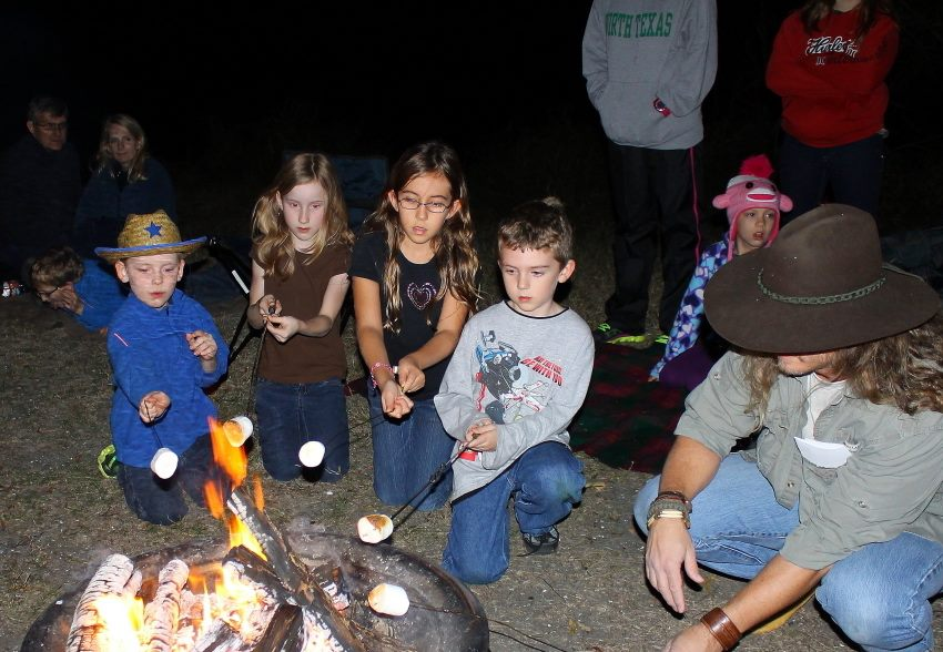 Toast a marshmallow or two at LLELA's family campfire. Photo: LLELA