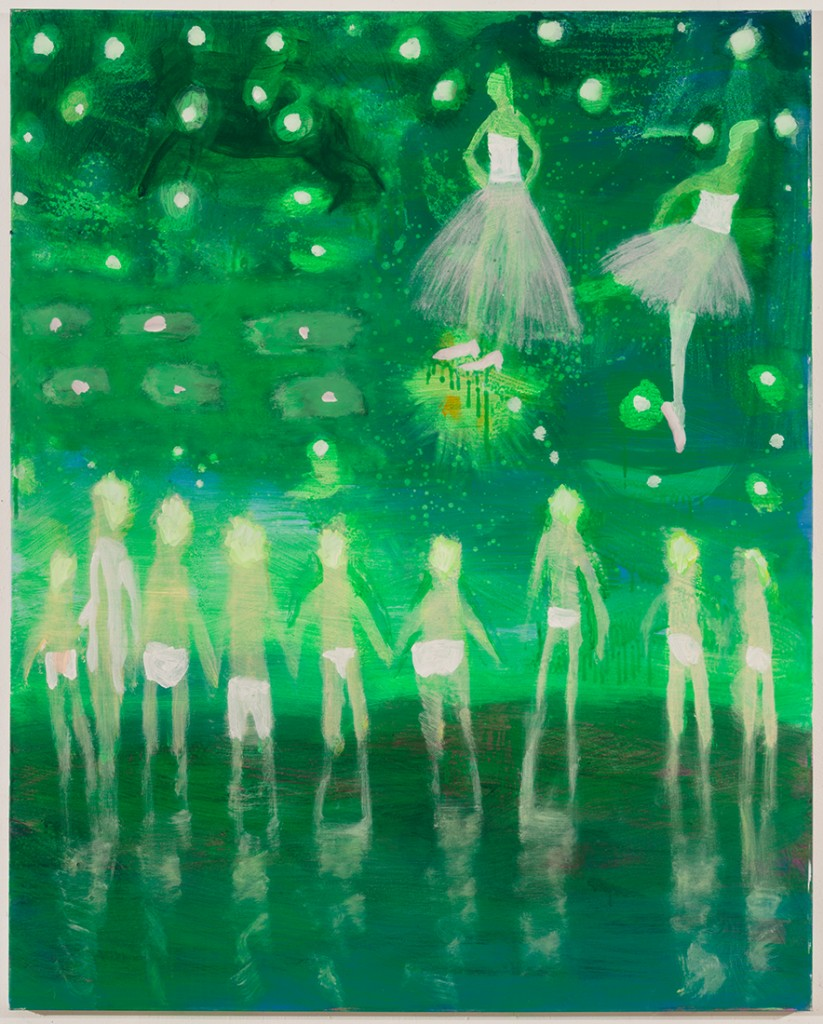 Prom Swim, Green by Katherine Bradford, bought through Dallas Art Fair