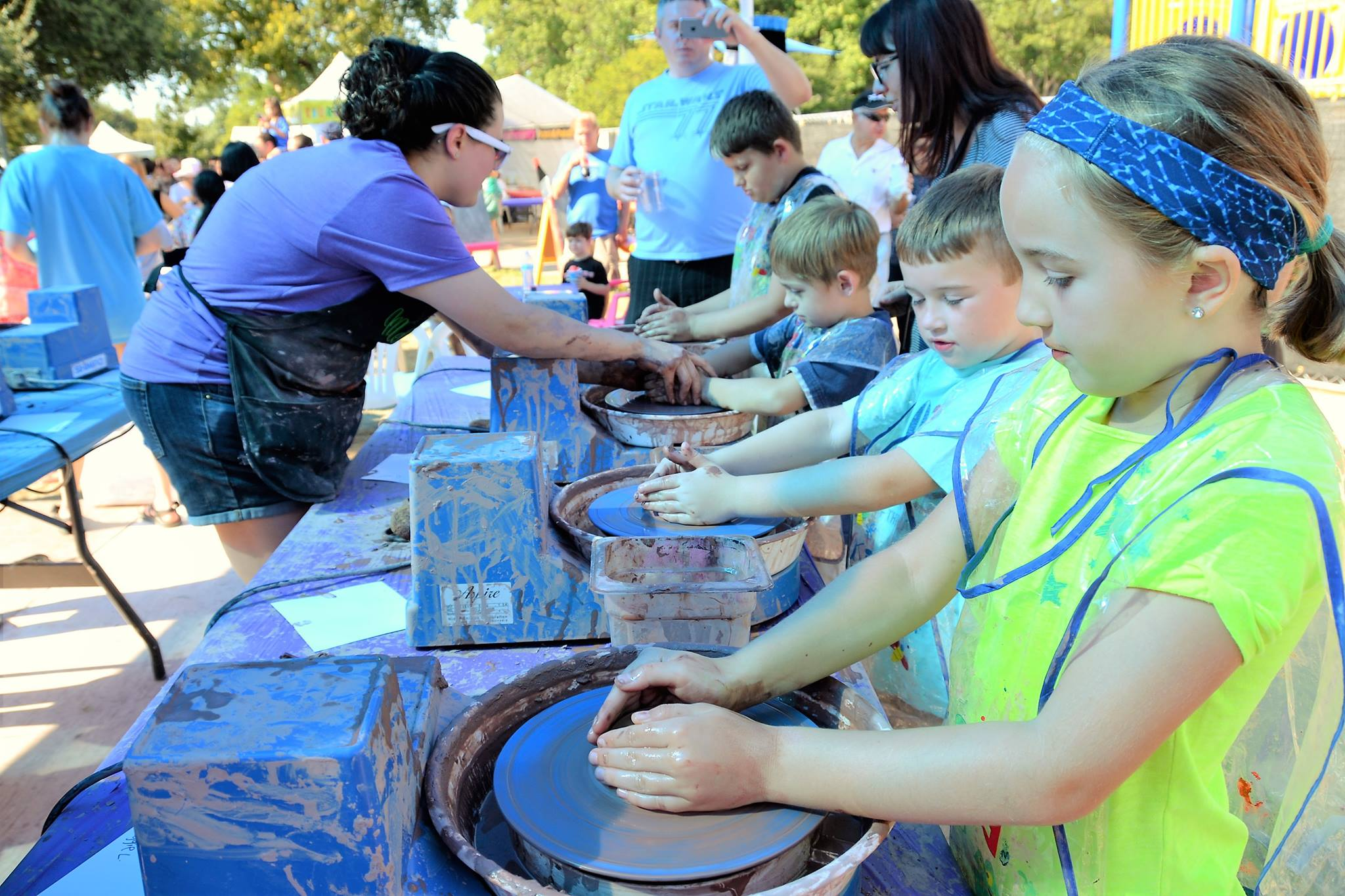 See what you can make at ArtStop Children's Area at the Cottonwood Arts Festival. Photo: Cottonwood Arts Festival